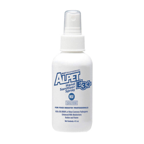 Alpet® E3 Plus Hand Sanitizer 4 oz. Spray Bottle